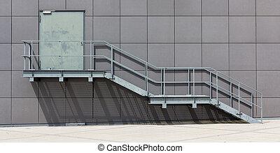 建築物, 火, 邊, 樓梯井