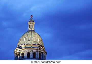 建築物, 狀態, 圓屋頂, 州議會大廈