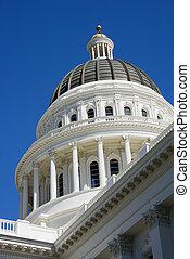 建築物, 薩克拉門托, dome., 州議會大廈