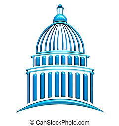 建築物, 藍色, 州議會大廈