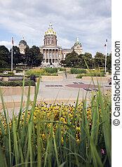建築物, 衣阿華, 州議會大廈,  des,  -, 狀態,  moines