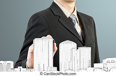 建築物, 都市風景, 平局, 商人