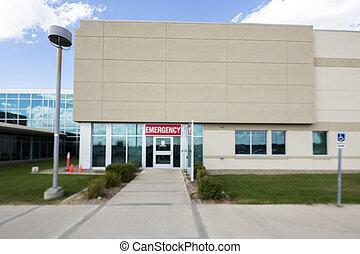 建築物, 醫院, 入口, 緊急事件