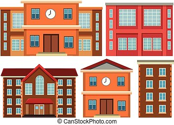 建築物, 集合, 外部