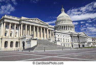 建築物, dc, 州議會大廈, 我們, 華盛頓