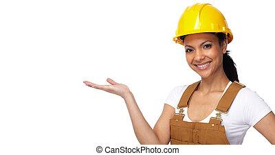 建築者, 女, 労働者