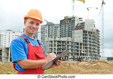 建築者, 建設, 微笑, 検査官, 区域