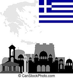 建築, の, ギリシャ