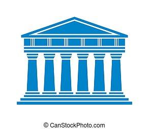 建築, ギリシャ語, 寺院, アイコン