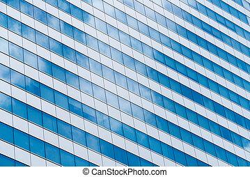 建築, 抽象的, 背景, オフィスビル