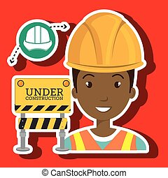 建設道具, 仕事, 人