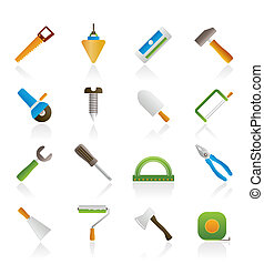 建設, そして, 建物, 道具