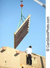 建設, の, a, 木製である, 建物