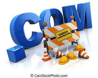 建設, インターネットサイト, 下に