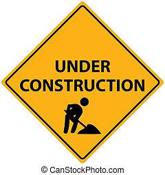 建設, ベクトル, 下に
