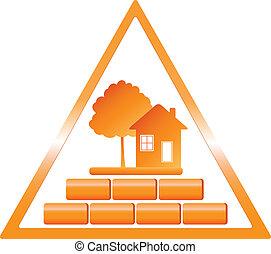 建設, 三角, 印