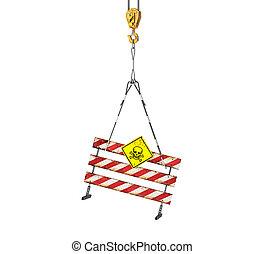 建設 中, rope.3d, イラスト, 印