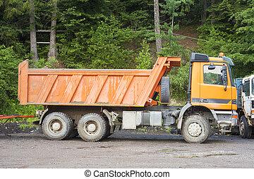 建設, 使用, 産業, トラック