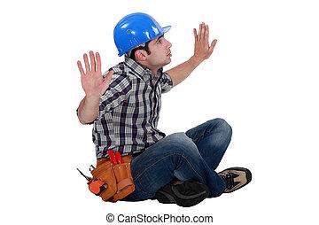 建設, 労働者, 捕えられた