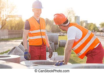建設, 労働者, 道
