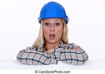 建設, 労働者, 驚かされる