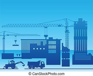 建設, 工場