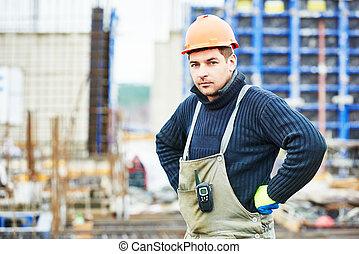 建設, 建造者, 工人, 站點