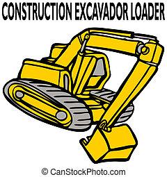 建設, 掘削機, 積込み機