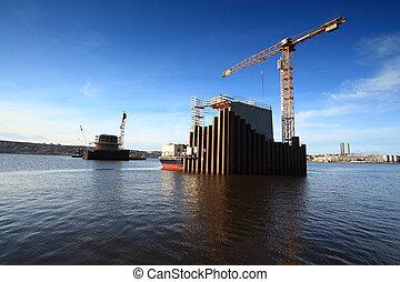 建設, 桟橋