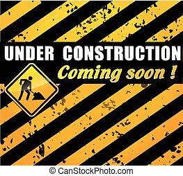 建設, 概念, サイト, 下に