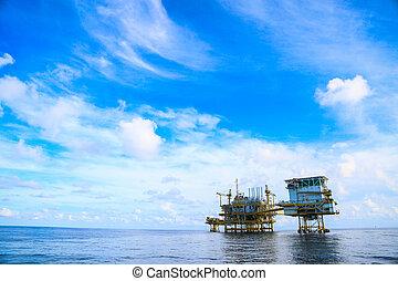 建設, 沖合いの プラットホーム