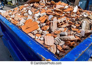建設, 瓦礫, サイト