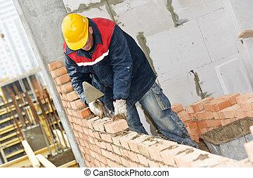 建設, 石工, 労働者, 煉瓦工
