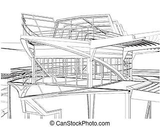建設, 船, 抽象的