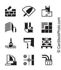 建設, 道具, 材料