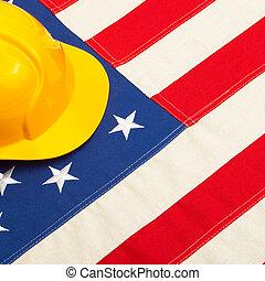 建設, 鋼盔, 由于, 美國旗, -, 1, 到, 1, 比率