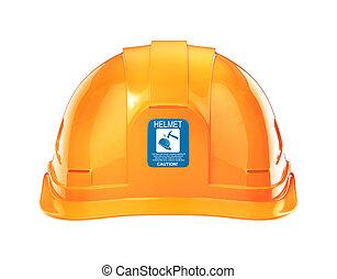 建設, helmet., イラスト, 3d