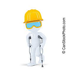 建設, worker/builder, 上に, 松葉ずえ