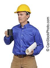 建设工人, 带, 咖啡
