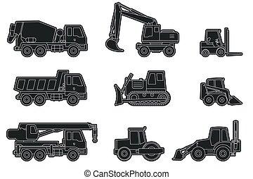 建设机械, icons.