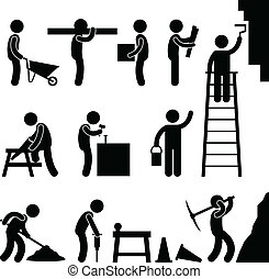建设, 艰苦的工作, 劳动