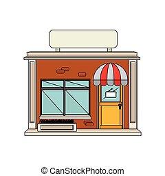 建造外表, 商店, 圖象