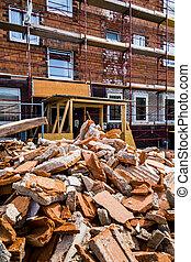 建造建筑物, 碎石, 站點