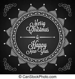 开心, 圣诞快乐, 同时,, 新年