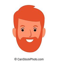 开心, 胡子, 人, 图标