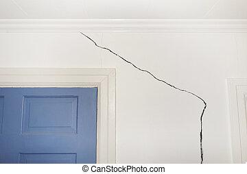 开裂, 墙壁