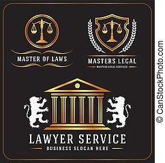 弁護士, サービス, オフィス, ロゴ