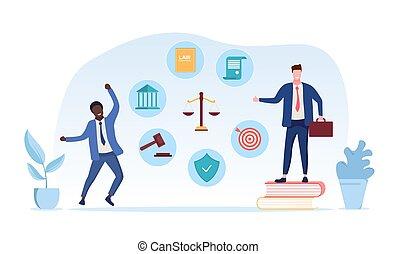 弁護士, サービス, 正義裁判所