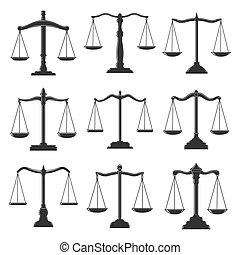 弁護士, スケール, 法的, 正義, 法律, アイコン, notary