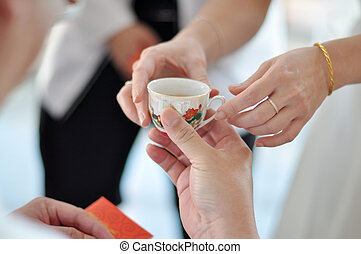 式, お茶, 中国語, 結婚式
